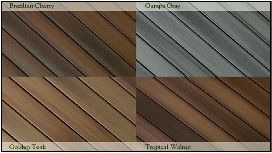 Composite decking kwaterski bros wood products inc for Composite decking colors