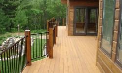 Designer cedar decking
