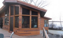 Cedar channel prairie style siding