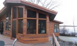 Cedar channel prairie style siding