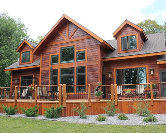 Cedar wood siding