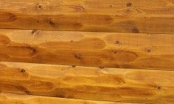 Spruce hewn log siding