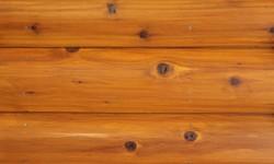Cedar half log siding