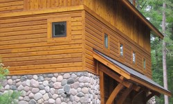 Cedar scan log siding