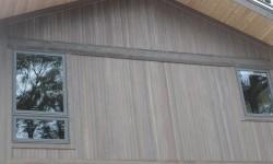 Cedar tongue and groove wood siding