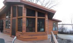 Cedar channel wood siding
