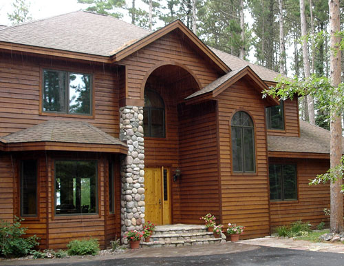 Contemporary collection kwaterski bros wood products inc for Natural wood siding