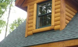Pine hewn log siding