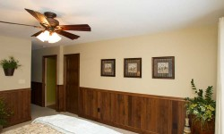Walnut tongue and groove paneling-Arts & Crafts, Mission collection