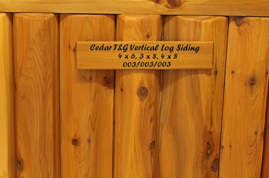 Tight Knot Cedar Vertical Log Siding Endura Oil Interior