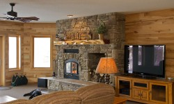 Hickory paneling-Rustic retreat collection