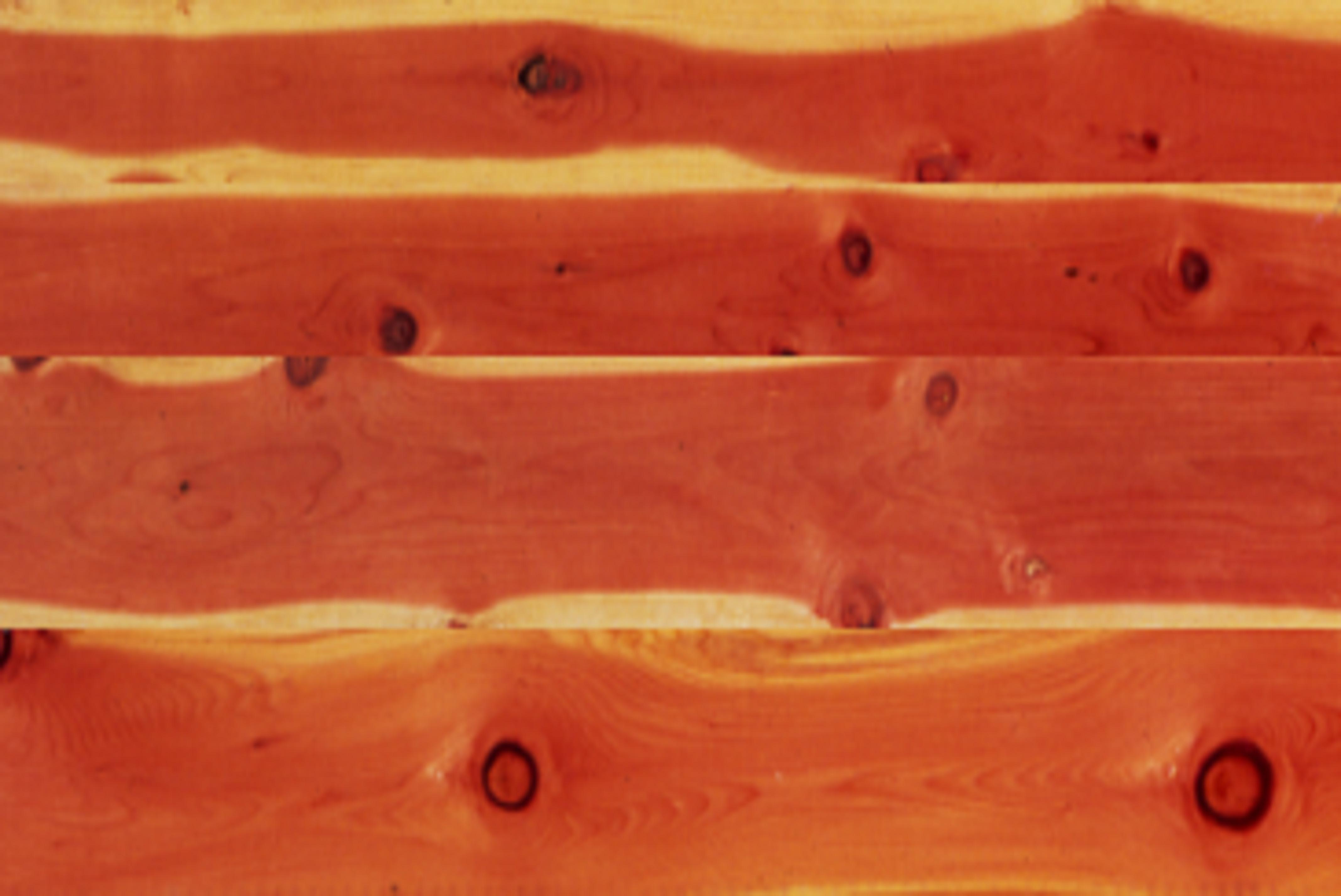 3x8 log siding hand hewn pine - Tight Knot Redwood