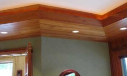 Cherry tongue and groove paneling-Arts & Crafts, Mission collection