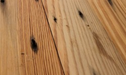 Naily heart pine surfaced lumber