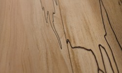 Spalted maple surfaced lumber