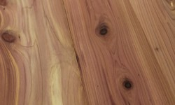 Aromatic cedar surfaced lumber