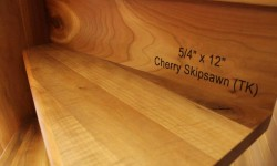 Cherry skipsawn stair tread