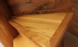 Walnut stair tread