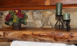 Wood mantles